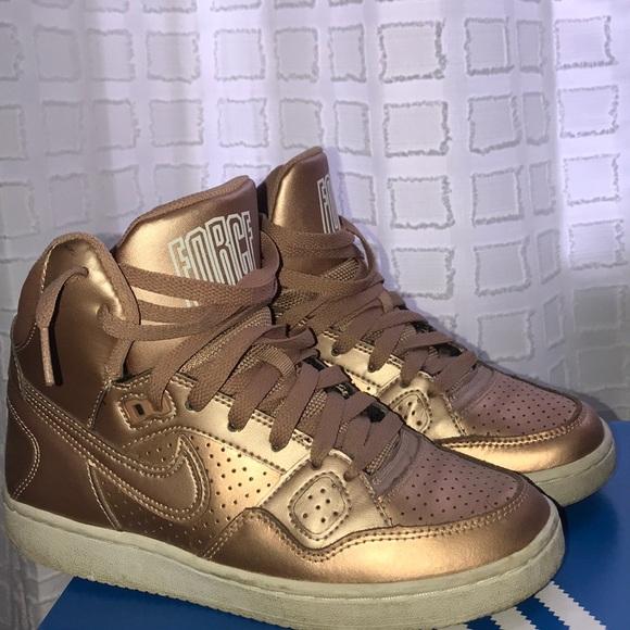 Rose Gold Nike High Tops | Poshmark